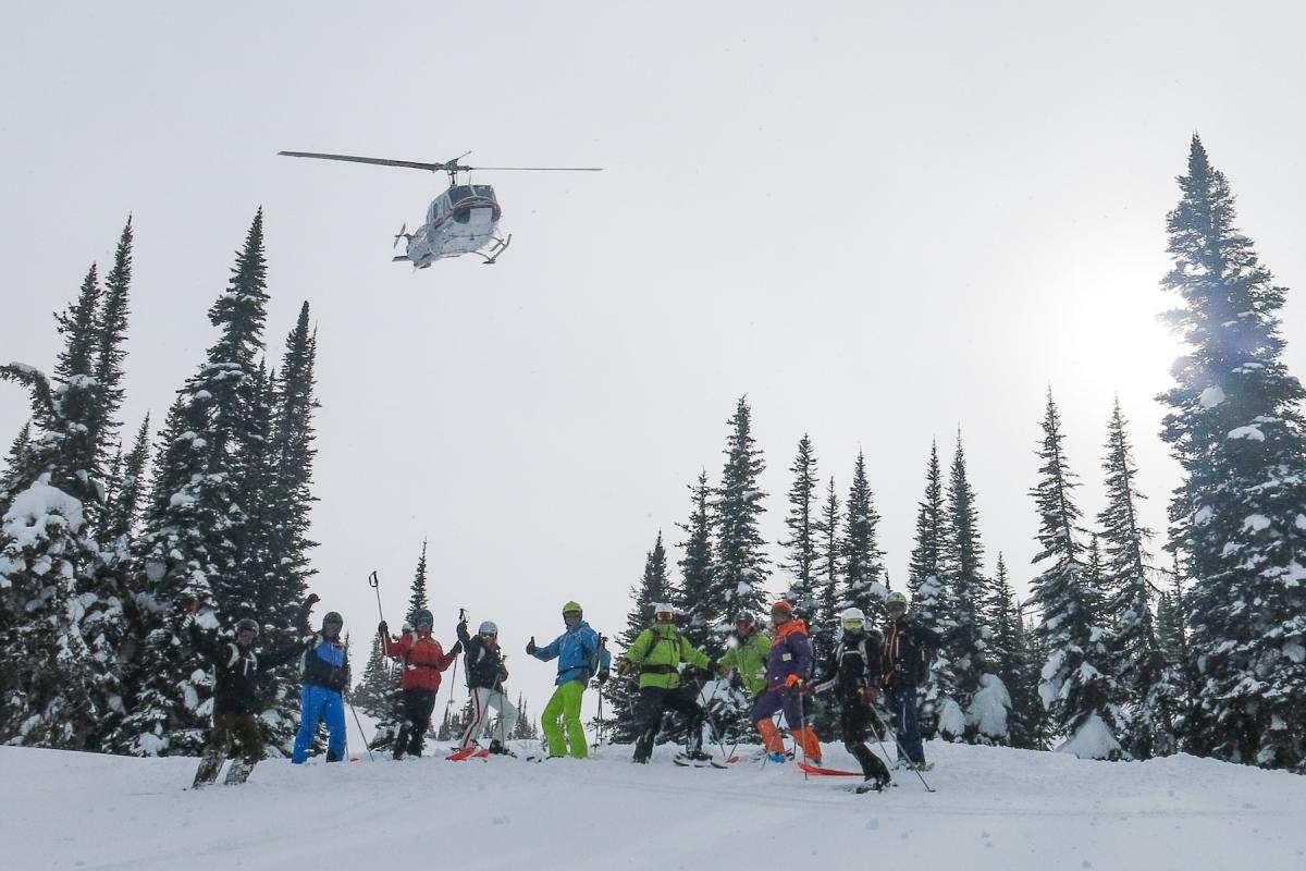 Heli Flyover Ski Group Purcell 2018