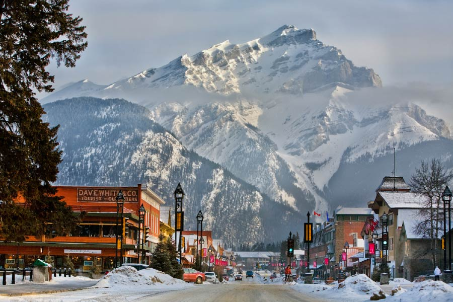 Banff Avenue im Winter