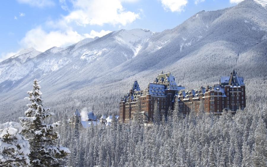 Fairmont Banff Springs Hotel im Winter