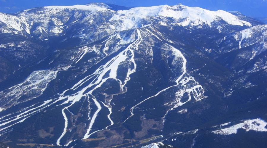Blick auf das Panorama Skigebiet