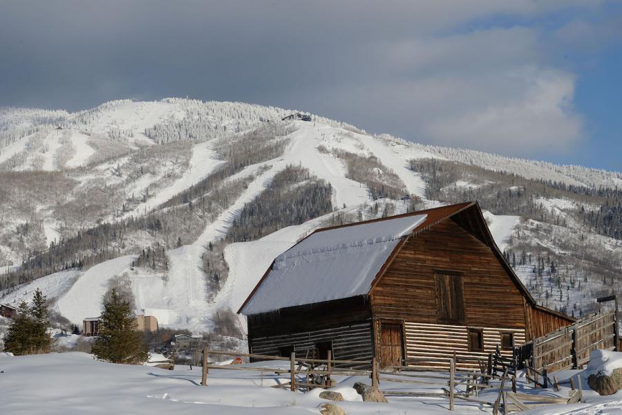 Steamboat Skigebiet mit Barn