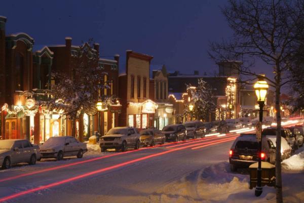 Breckenridge - Blick auf Main Street am Abend
