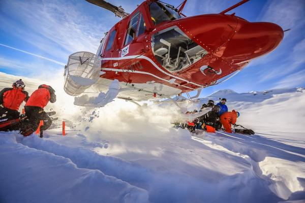 TLH Heliskiing Helikopter - Drop Off
