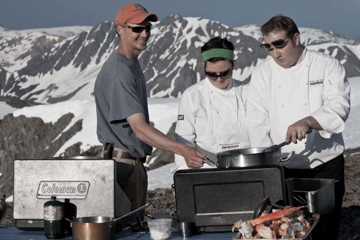 Heliskiing - Kings and Corn - our chefs