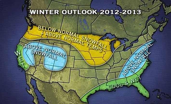 Schneevorhersage für die USA & Kanada - Winter 2012-13