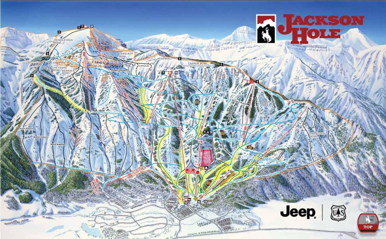 Skigebiet Jackson Hole (Wyoming, USA) - Pistenpläne ..
