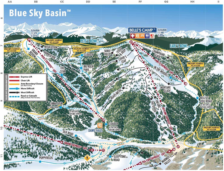 Skigebiet Vail (Colorado, USA) - Pistenpläne ..